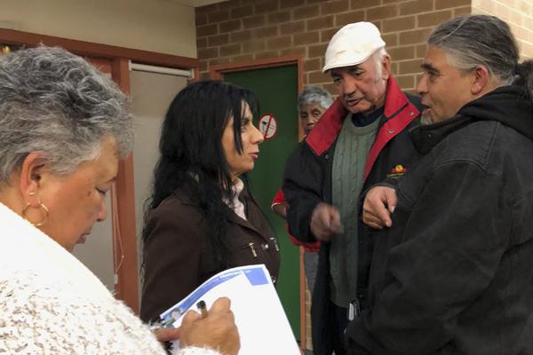 Councillor Nina Cheyne at the community consultation