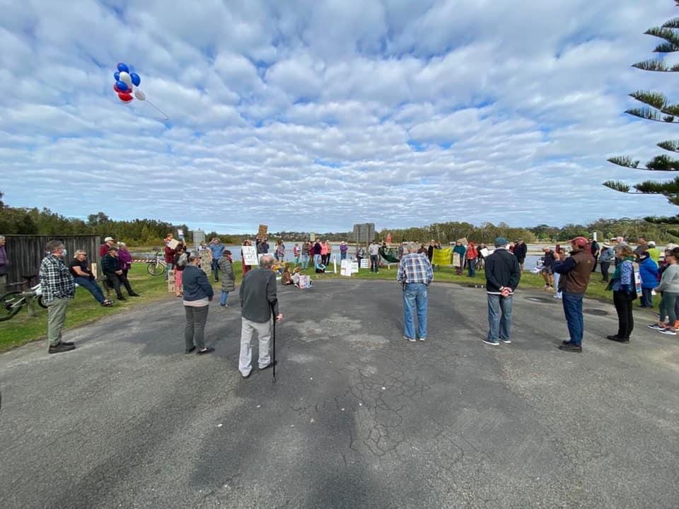 Save Burrill Lake Rally, June 2020 - Photo: Keep Burrill Beautiful