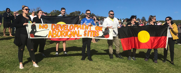One massacre site recently identified alongside the Minnamurra River is condemned to destruction beneath a sand mining operation - approval granted to Boral by the Independent Planning Commission, despite the cultural significance of the area and the presence of ecologically endangered communities.