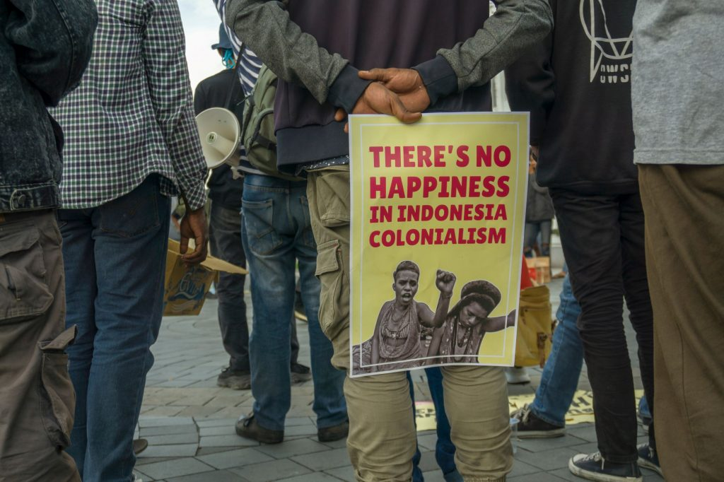 There is no Happiness in Indonesian Colonialism of West Papua. Free West Papua. Independence for West Papua