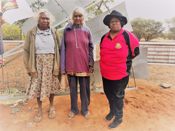 Tjiwarl women, Shirley & Elizabeth Wonyabong and Vicky Abdullah are determined to protect their country from uranium mining