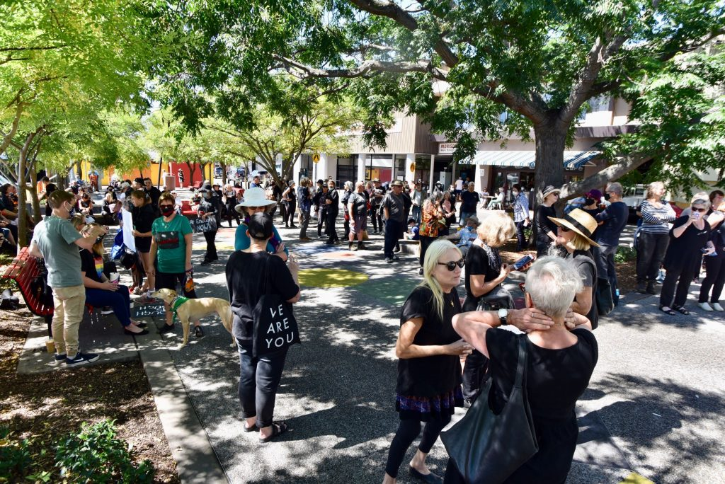 People arriving at March4Justice in Nowra on 15th of March to share their stories, to commence healing, to shout out Enough is Enough