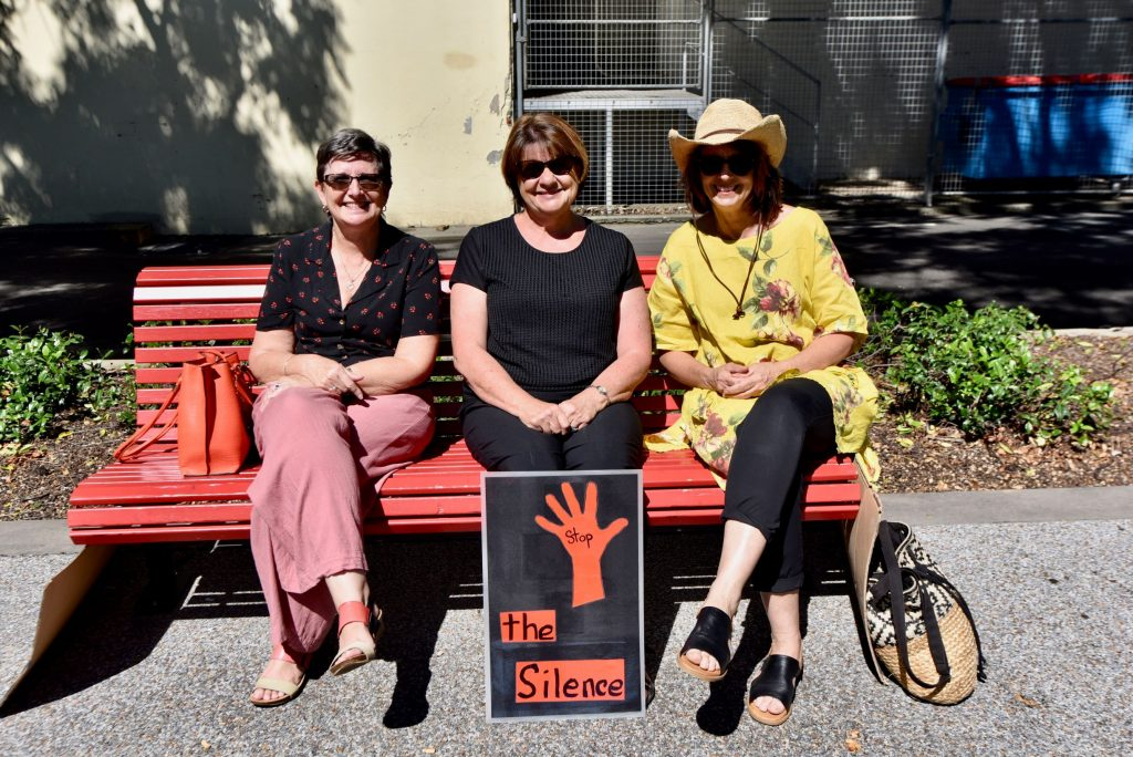 Women don't want to be silent any longer, women protesting at March4Justice in Nowra on 15th of March for women's right and justice