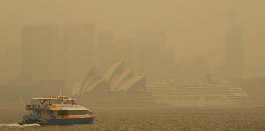 bushfire smoke in Sydney in December 2019 left the air quality at 12 times the hazardous treshold
