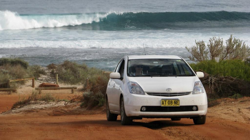Toyota Prius Hybrid car at Ningaloo Reef