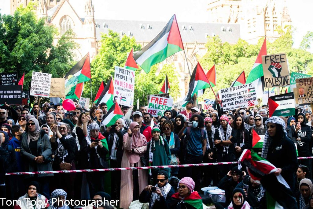 Protest for a free Palestine in Sydney 22 May 2021