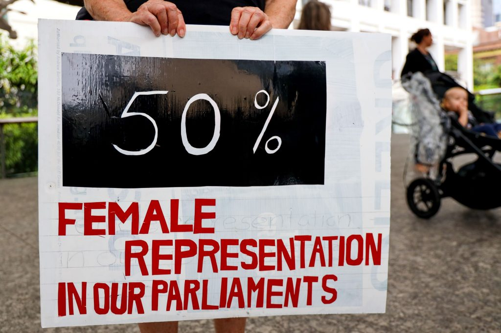 about 30% of women are presented in Australia's parliament