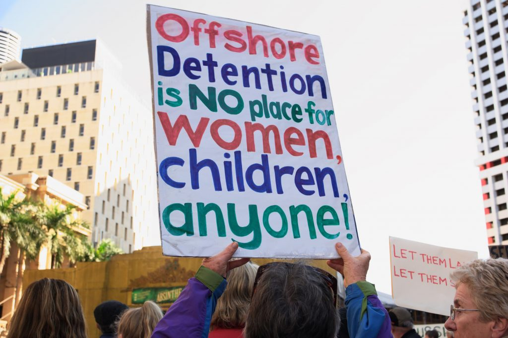 World Refugee Day protest against offshore detention in Brisbane June 2021