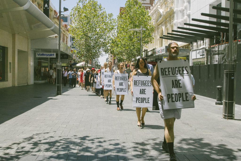 Protest march for refugees in Perth by church leaders