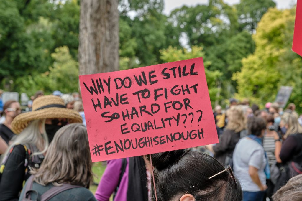 women are still fighting for equal rights at March4Justice protest in 2021
