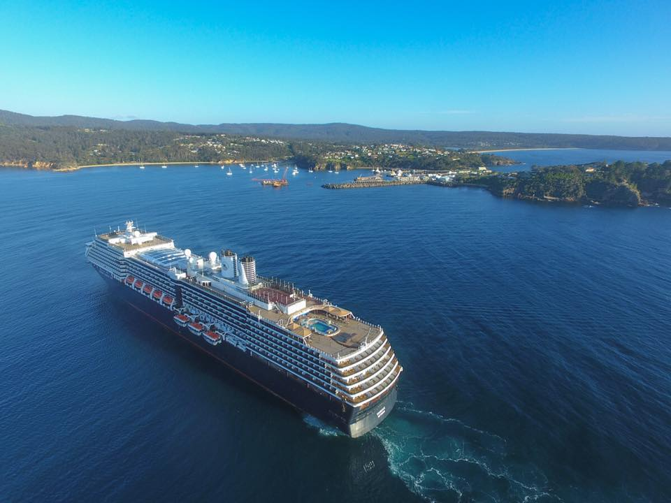 Cruise ship coming into Eden New South Wales