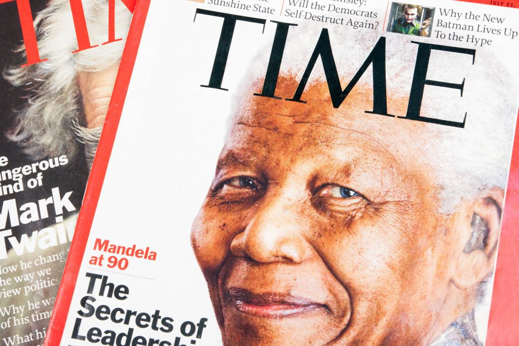 The secrets of leadership, Nelson Mandela in a Time Magazine article at the age of 90 in 2014